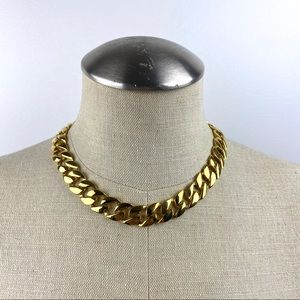 Vintage Gold Chain Choker Necklace
